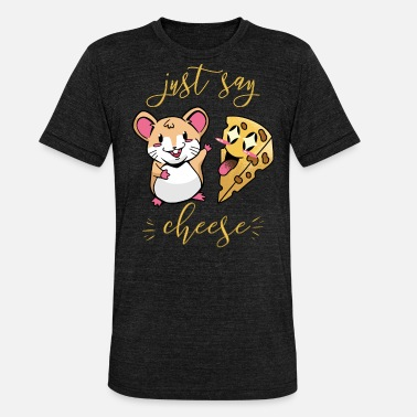 Just Say Cheese For Kids The Mouse Loves Cheese I - Unisex Tri-Blend T-Shirt