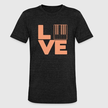 Dominant Liebe PIANIST - Liebe - Unisex Tri-Blend T-Shirt von Bella + Canvas