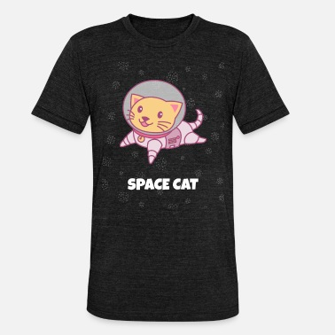Astronaut Space Cat Cat Shirt geschenken - Unisex triblend T-shirt