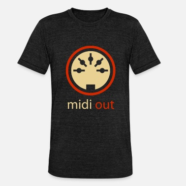 Hifi Midi Out5-stifts DIN Audio Synthesizer Vintage Stereo - Triblend T-shirt unisex