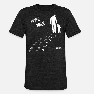 Zoon Vader & Zoon never walk alone - Unisex triblend T-shirt