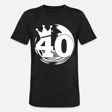 40th birthday - Unisex Tri-Blend T-Shirt