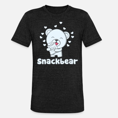 Snack Snack bear / snack bear with heart - Unisex Tri-Blend T-Shirt