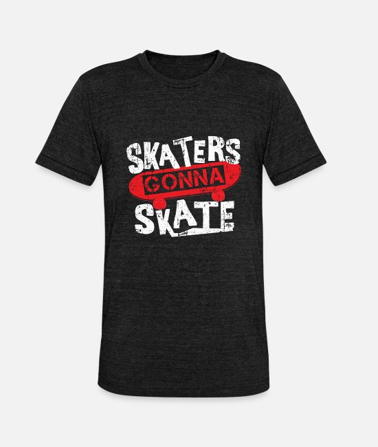 Freestyle T-Shirts - skateboard - Unisex Tri-Blend T-Shirt heather black