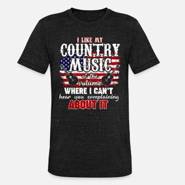 Country Country Western Music Love USA Regalo - Camiseta triblend unisex