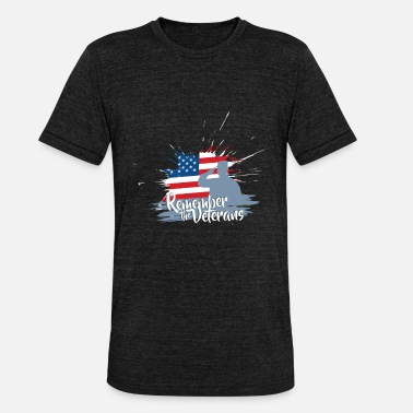 Veterans Day Veterans Day - Remember the Veterans - Unisex Tri-Blend T-Shirt by Bella & Canvas