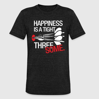 Tight Jokes Happiness is a close dinar dart gift - Unisex Tri-Blend T-Shirt by Bella & Canvas