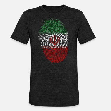 Iran Flagge Iran Flagge - Unisex Tri-Blend T-Shirt von Bella + Canvas