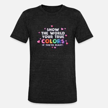 Coming Out Pride Coming Out day Gay Schwul lgbt homo - Unisex T-Shirt meliert