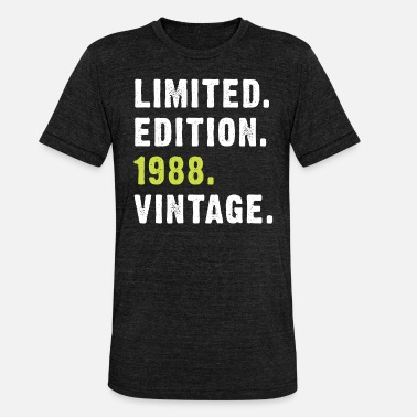 Garish 1988 Vintage, 30 Years Born Limited Edition - Unisex Tri-Blend T-Shirt by Bella & Canvas