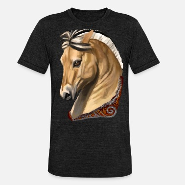 Fjord Cheval cheval fjord - T-shirt chiné Bella + Canvas Unisexe