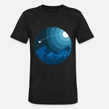 Circular Uncharted Night Sky Circular Simple Graphic - Unisex Tri-Blend T-Shirt