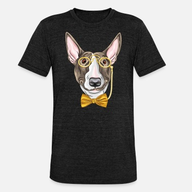 Monocle Dog with monocle - Unisex Tri-Blend T-Shirt
