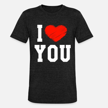 I Love You I Love You - Unisex T-Shirt meliert