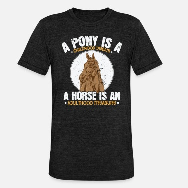 Jump Pony Childhood Dream, Horse Adulthood Treasure - Unisex Tri-Blend T-Shirt