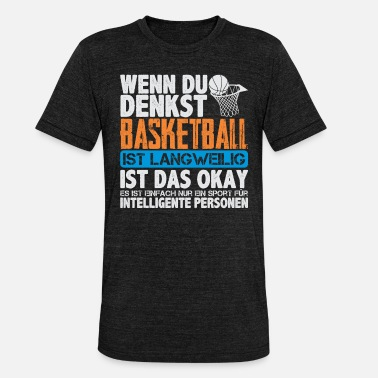 Basketball-trainer Basketball - Unisex T-Shirt meliert