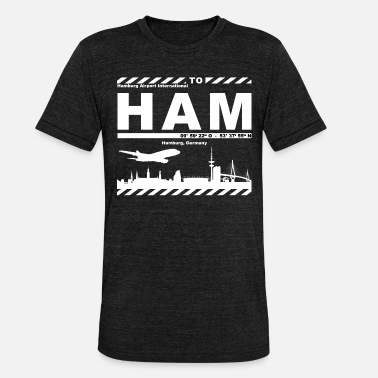 Hamburg Symbols Hamburg Airport HAM Supporter - Unisex Tri-Blend T-Shirt by Bella & Canvas