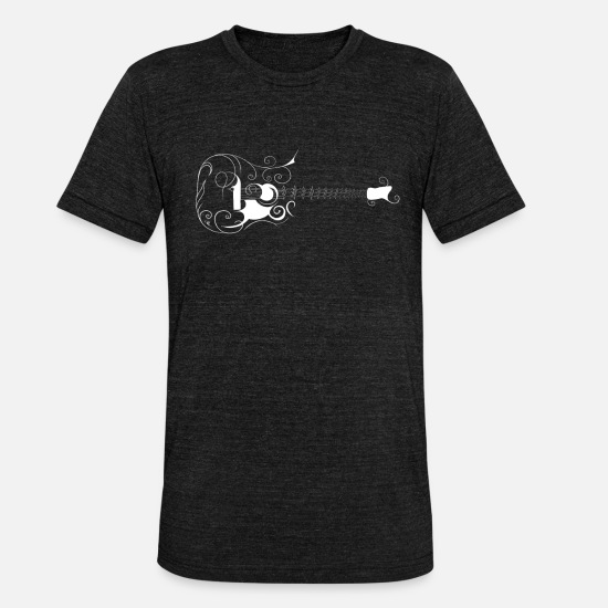 Electric Guitar T-Shirts - Guitarist guitar electric guitar - Unisex Tri-Blend T-Shirt heather black