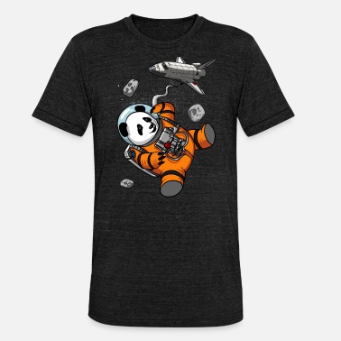 Cosmic Space Panda Bear Astronaut Cosmic Galaxy Animal - Unisex triblend T-shirt