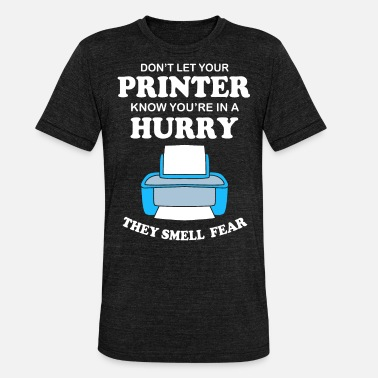 Kontor Office humor joke kontor printer kontorassistent - Unisex triblend T-shirt