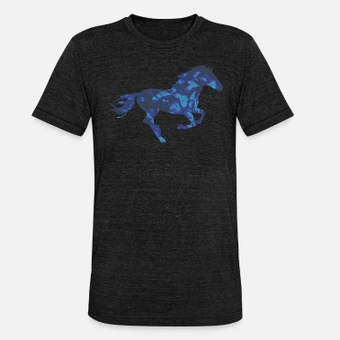 Flame Cats Horse horse - Unisex Tri-Blend T-Shirt by Bella & Canvas