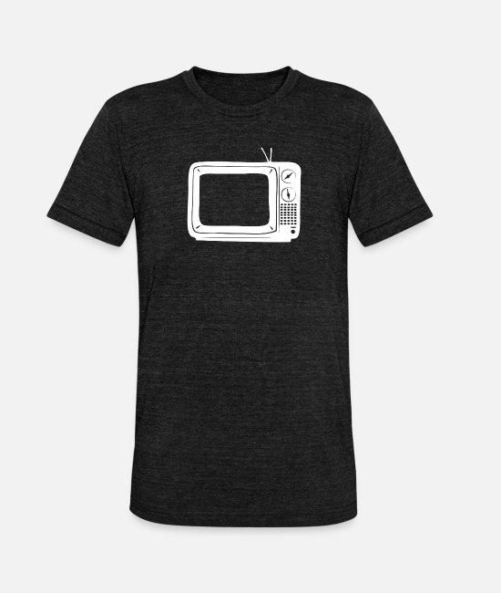 Broadcast T-Shirts - television tv television television series gift - Unisex Tri-Blend T-Shirt heather black