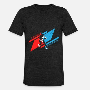 Kids American Flag Football American Sport Kids Gift - Unisex Tri-Blend T-Shirt by Bella & Canvas