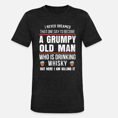 Whiskey Mens whisky cadeau voor bourbon drinkers grappig - Unisex triblend T-shirt