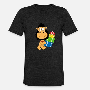 Funny Monkey Monkey Birthday Gifts - Unisex Tri-Blend T-Shirt