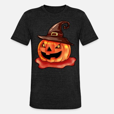 Pumpkin Halloween pumpkin - Unisex Tri-Blend T-Shirt