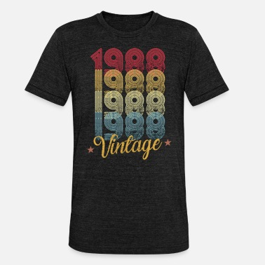 1988 year 30 years of birth - Unisex Tri-Blend T-Shirt
