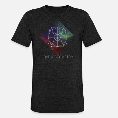 Sacred Geometry Sacred Geometry - Love And Geometry - Unisex Tri-Blend T-Shirt