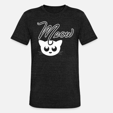 Cat Meow Cat Cat Kitty Meow Meow - Unisex Tri-Blend T-Shirt by Bella & Canvas