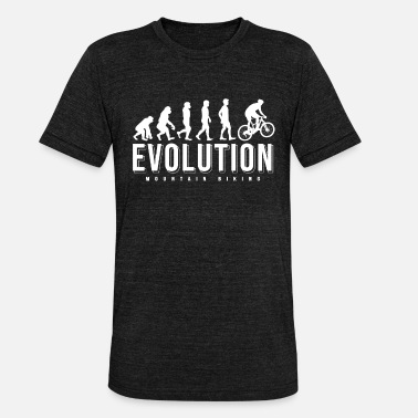 Evolution Mountain Bike Mountain bike evolution that wanders gift - Unisex Tri-Blend T-Shirt by Bella & Canvas