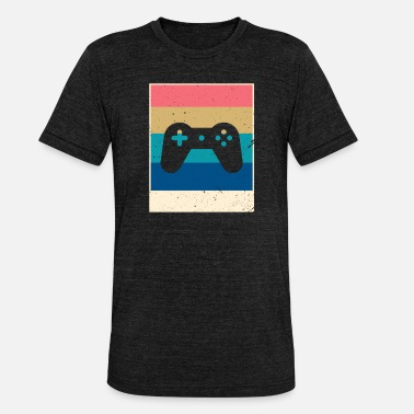 Retro Game Characters Retro Gaming - Unisex Tri-Blend T-Shirt