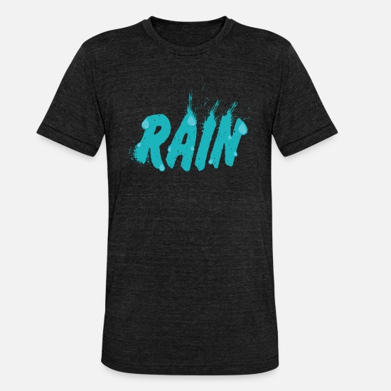 Rain T-Shirts - Rain Rain - Unisex Tri-Blend T-Shirt heather black