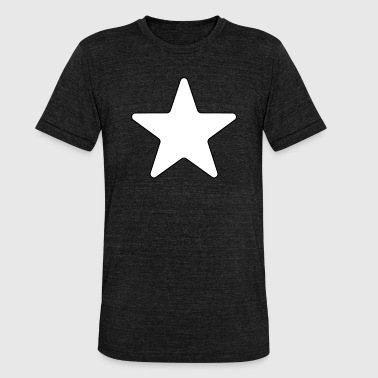 Giant White Star Stars Big Large Star - Unisex Tri-Blend T-Shirt by Bella & Canvas