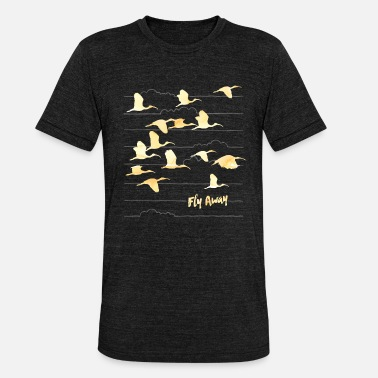 Animal Planet Animal Planet Crane 'Fly away' - Triblend T-shirt unisex