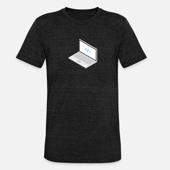 Program T-Shirts - Laptop - Unisex Tri-Blend T-Shirt heather black