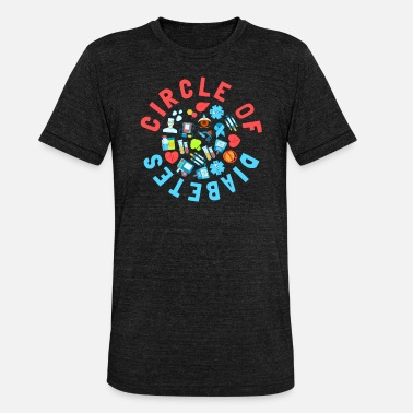 Type Circle Of Diabetes Type 1 Diabetes Awareness - Unisex Tri-Blend T-Shirt