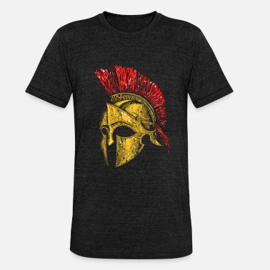 Helmet Helmet Sparta Greece Rome Romans Ancient Warriors - Unisex Tri-Blend T-Shirt