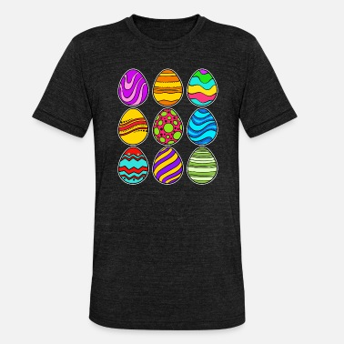 Colorful easter eggs happy easter easter egg festival - Unisex Tri-Blend T-Shirt