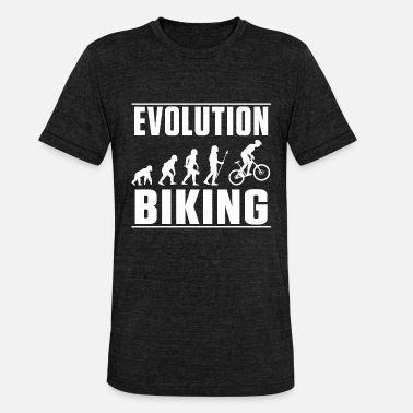 Messenger Evolution Biking Bike Biking - Unisex Tri-Blend T-Shirt