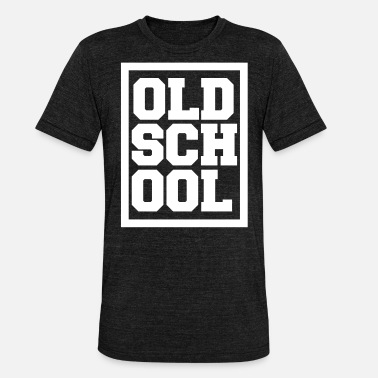 Old School Hip Hop Old School Hip Hop Shirt - Unisex Tri-Blend T-Shirt von Bella + Canvas
