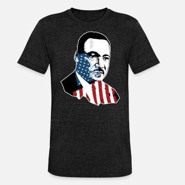Martin Luther King Foto di Martin Luther King - Maglietta unisex tri-blend di Bella + Canvas
