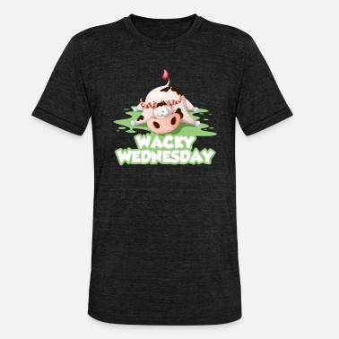 Bse Wacky Wednesday cow BSE work office day - Unisex Tri-Blend T-Shirt