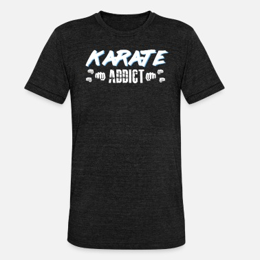 19th Century karate addict punching - Unisex Tri-Blend T-Shirt by Bella & Canvas