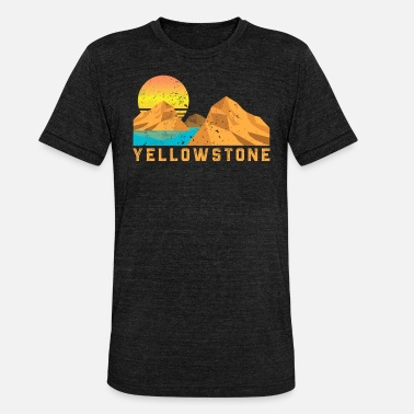 Nationalpark Weinlese Yellowstone Retro Nationalpark - Unisex Tri-Blend T-Shirt von Bella + Canvas