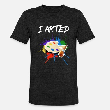 Art Design I Arted Art design - Unisex Tri-Blend T-Shirt