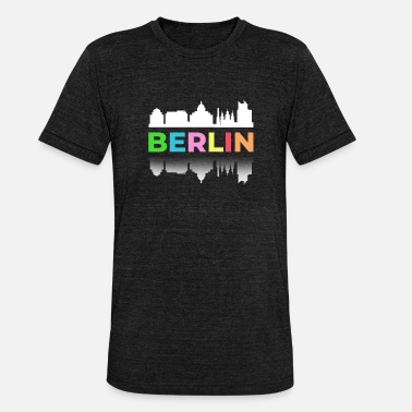 Capital Federal Berlín colorido Capital Federal Alemania pared Duomo - Camiseta triblend unisex